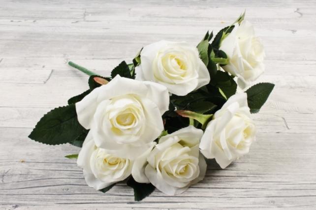 Искусственное растение -  Розы чайные белые