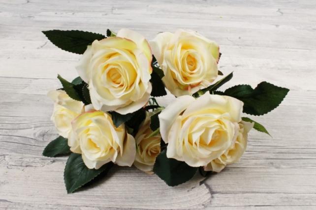 Искусственное растение -  Розы чайные кремовые