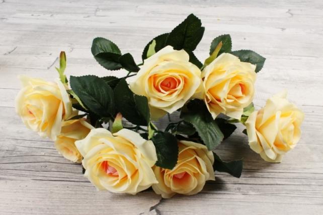 Искусственное растение -  Розы чайные персиковые