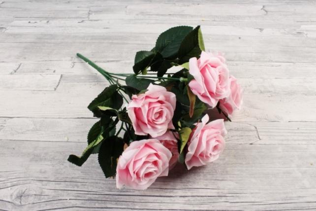 Искусственное растение -  Розы чайные розовые