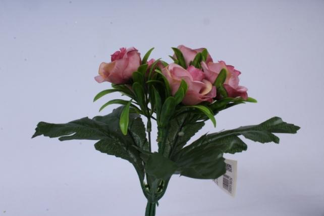 искусственное растение - розы цвет пудры 25 см