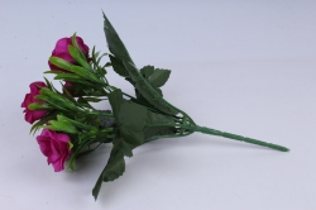искусственное растение - розы фуксия 25 см