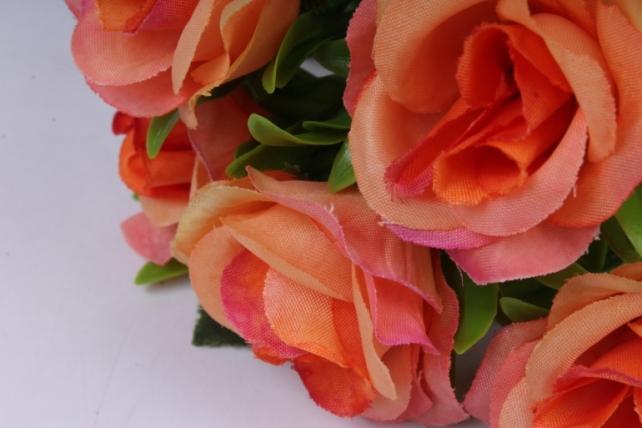 искусственное растение - розы коралловые 25 см