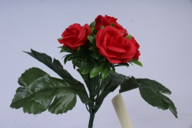 искусственное растение - розы красные 25 см