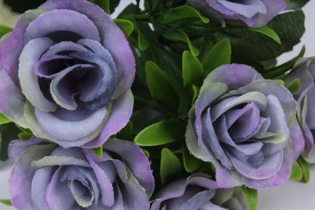 искусственное растение - розы лиловые 25 см