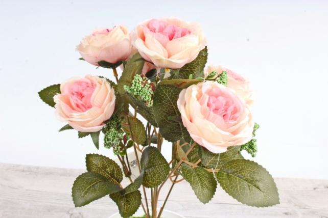 Искусственное растение -  Розы розово-малиновые