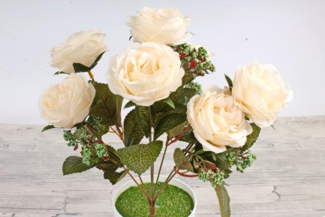 Искусственное растение -  Розы  шампань