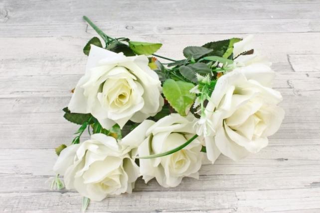 Искусственное растение -  Розы оттеночные белые