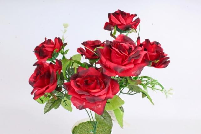 Искусственное растение -  Розы оттеночные красно-бордовые