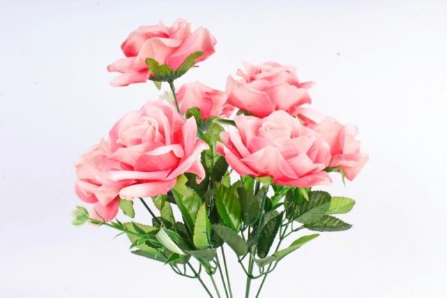 Искусственное растение -  Розы оттеночные ярко-розовые