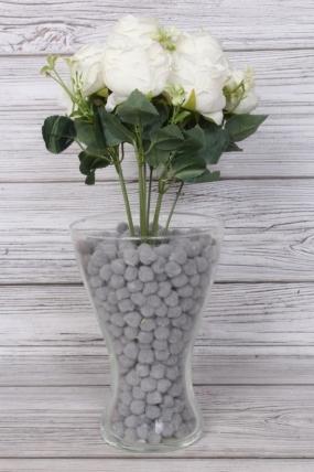 Искусственное растение -  Розы пастельные белые