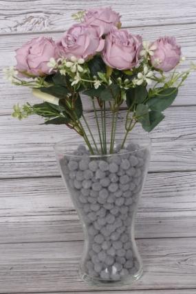 Искусственное растение -  Розы пастельные дымчатые