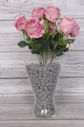 Искусственное растение -  Розы пастельные пыльная роза