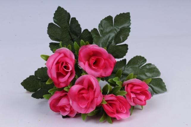 искусственное растение - розы розовые 25 см