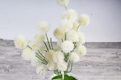 Искусственное растение -  Шарик-колючка белый  Б10963