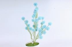 Искусственное растение -  Шарик-колючка голубой  Б10963