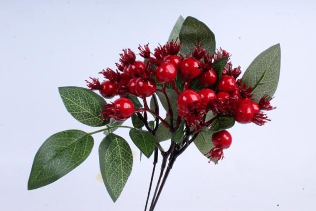Искусственное растение -  Шиповник  (5 шт в уп) В9725