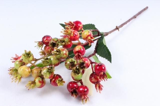 Искусственное растение -  Шиповник майский красно-жёлтый В10181