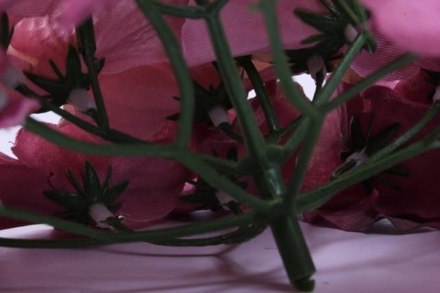 искусственное растение - соцветие гортензии d=15 см пепельно-розовое 8563