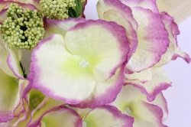 искусственное растение - соцветие гортензии d=15 см пурпурно-зеленое 8563