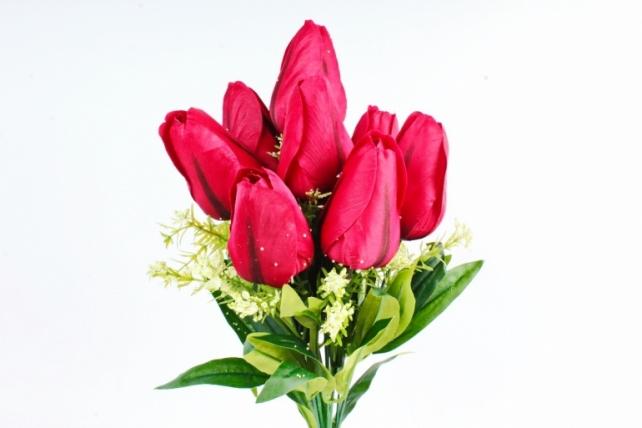 Искусственное растение -  Тюльпан-гигант   красный