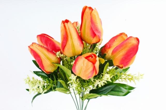 Искусственное растение -  Тюльпан-гигант  оранжевый