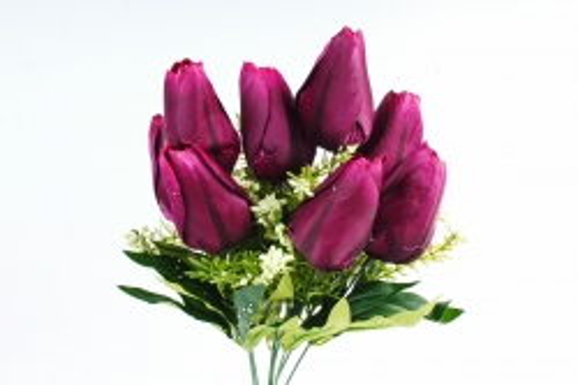 Искусственное растение -  Тюльпан-гигант   пурпурный