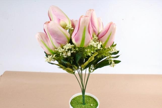 Искусственное растение -  Тюльпан-гигант   розовый