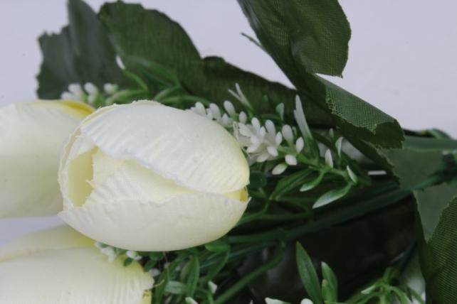 искусственное растение - тюльпаны белые h=26cm