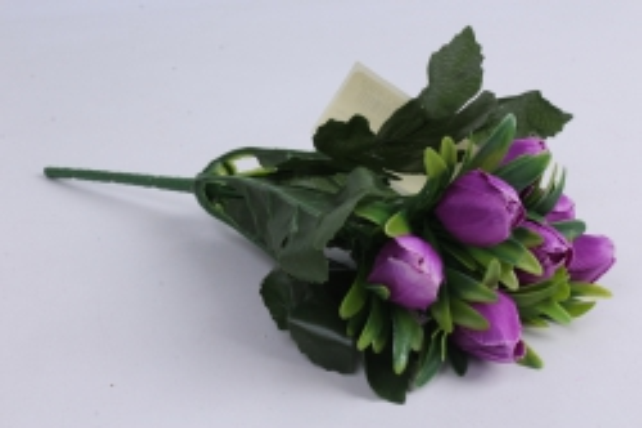Искусственное растение - Тюльпаны фиолетовые h=28cm