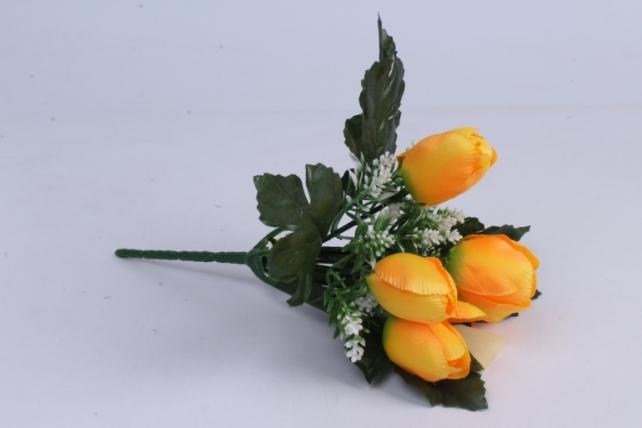Искусственное растение - Тюльпаны жёлтые  h=26cm