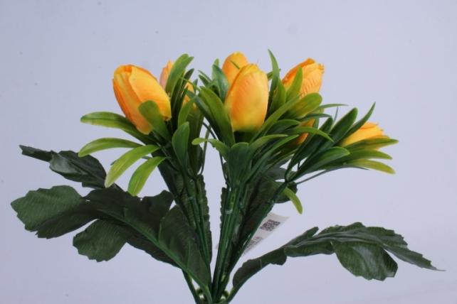 искусственное растение - тюльпаны жёлтые h=28cm