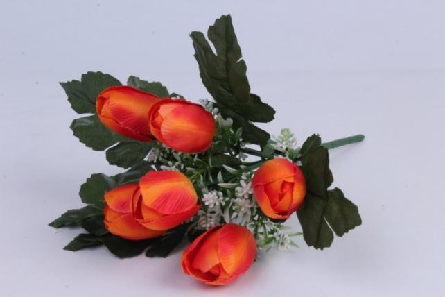 Искусственное растение - Тюльпаны оранжевые h=26cm