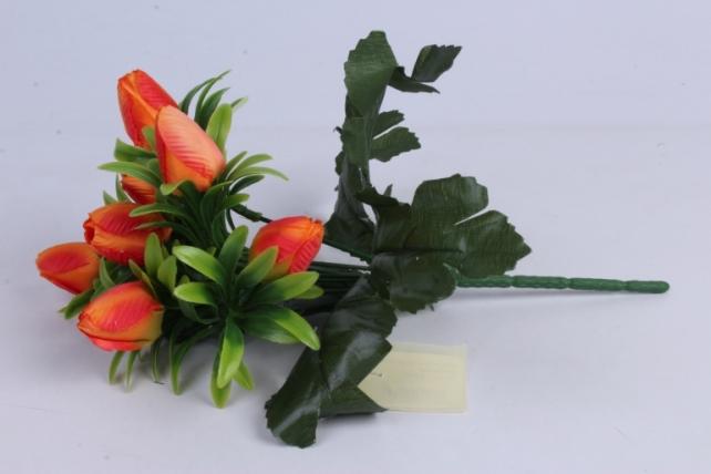 искусственное растение - тюльпаны оранжевые h=28cm