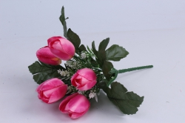 искусственное растение - тюльпаны розовые h=26cm