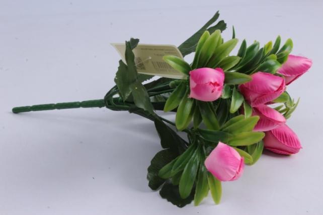 Искусственное растение - Тюльпаны розовые h=28cm