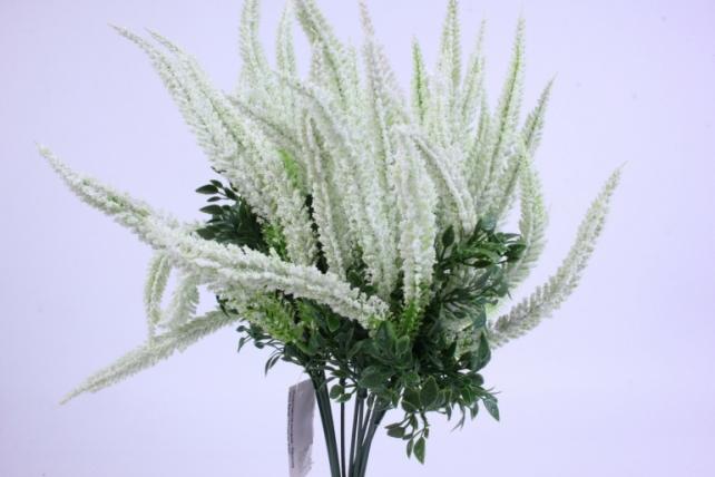 искусственное растение - вероника 20см белая (12 штв уп) 5297