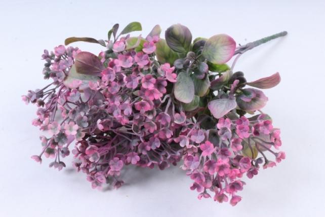 Искусственное растение -  Ветка Барбариса розовая  Б9574
