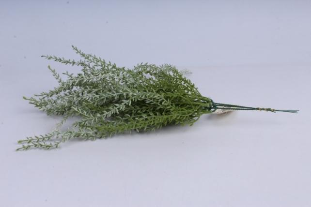 искусственное растение- ветка бело-зеленая 45см  (3шт в уп)  gab185а  8535