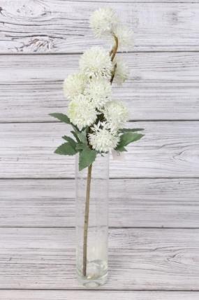 Искусственное растение -  Ветка декоративная белая 43 см 76-11777