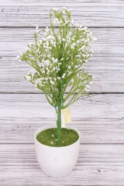 Искусственное растение - Ветка декоративная белая