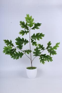 Искусственное растение -  Ветка Дуб зелёный Н=65см