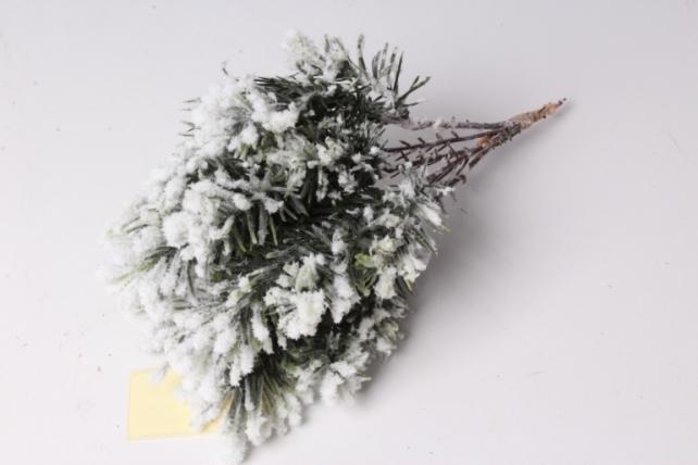 искусственное растение - ветка елки 20см (6шт в уп)  5309