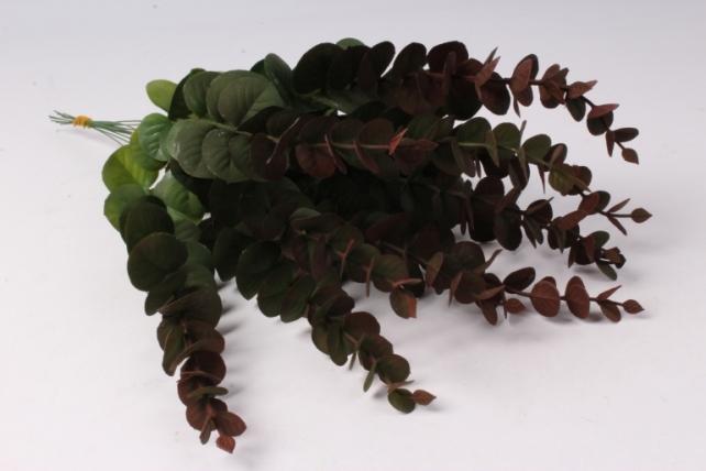 Искусственное растение - Ветка Эвкалипта Коричневая 30см  (12 шт в уп)  TIK058