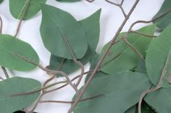 Искусственное растение -  Ветка Фикус зелёный  В2421