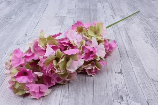 Искусственное растение - Ветка Гортензия Розово-салатовая   KWL877  6504
