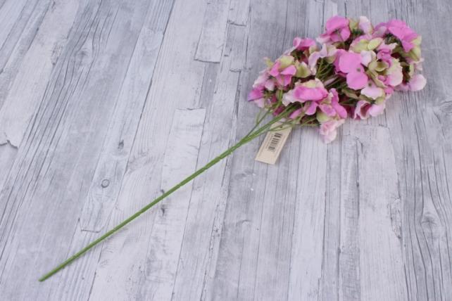 искусственное растение - ветка гортензия розово-салатовая  60см  kwl877  6504