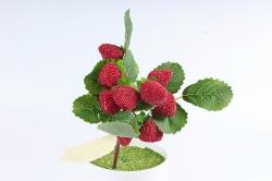 Искусственное растение -  Ветка клубники В10182