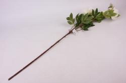 искусственное растение - ветка пиона 110 см бело-розовая sun117