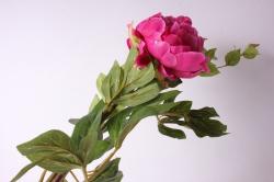искусственное растение - ветка пиона 110 см малиновая sun117